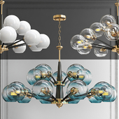 Люстра Thalia chandelier Blue glass 15