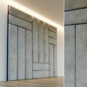 Decorative wall. Soft panel. 75