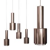 Artek Alvar Aalto Lamp Hand Grenade Brown Nickel