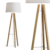 West Elm / Tripod Wood Floor Lamp