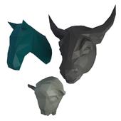 Sculpture bigs animals