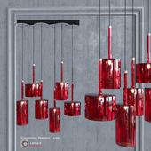 Подвесной светильник AXO Light Spillray SP lamps 6 Red Glass