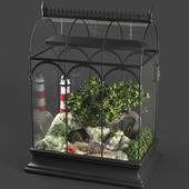 Terrarium with turtles
