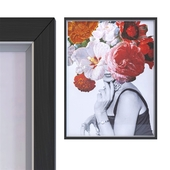 Picture Frame Flower Lady