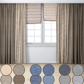 Curtain | Set in a modern style 01