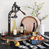 PotteryBarn - Wine and apples