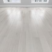 Parquet Oak white, 3 types: herringbone, linear, chevron.