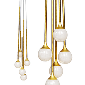 Pendant lamp Bullarum SS-5 gold and white shade