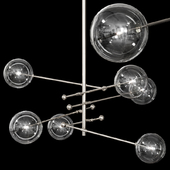 Restoration Hardware Glass Globe Mobile 6 ARM CHANDELIER 55 Nickel
