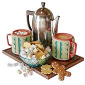 Warm mug with cocoa