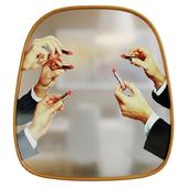 Mirror Seletti Mirror Gold Frame Lipsticks