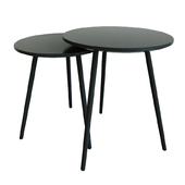 Set of coffee tables, black - Scalo