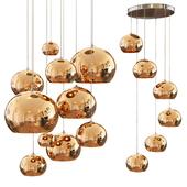 Copper shade pendants