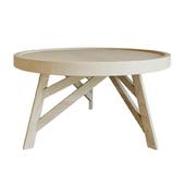 Coffee table THAIS Ø 80 cm, Mindi wood