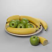 Бананы, яблоки