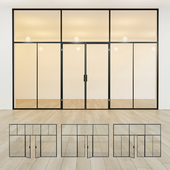 Glass partition. Door. 40
