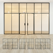 Glass partition. Door. 41