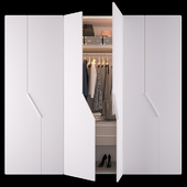 Wardrobe diagonal