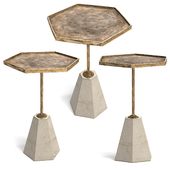 Gabby Lucinda Brass and Marble Accent Table