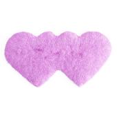 Faux fur carpet two hearts