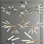 Led Nordic & Rotatable Branch Tube Chandelier