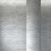 Brick white masonry