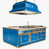 OFFICINEGULLO OCEAN BLUE & BURNISHED BRASS