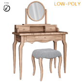 Dressing table Sienna Mirror casa Tocador pequeno (low poly)