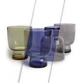 HK Living engraved drinks glass