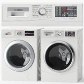 Set of washer-dryer BOSCH