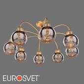 ОМ Потолочная люстра со стеклянными плафонами Eurosvet 30148/8 золото Fabia
