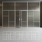 Glass partition. Door. 42