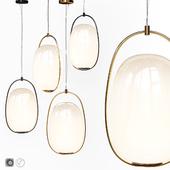 Pendant lamp Lanna Kundalini Suspension Lamp Black and Brass