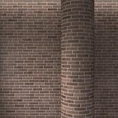 Brick brown masonry