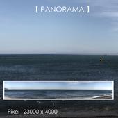 Set of panoramas of the sea