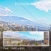 Набор панорам городского горного ландшафта