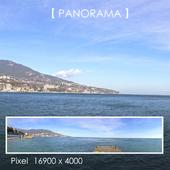Set of panoramas of the promenade