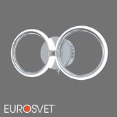 ОМ Настенный светодиодный светильник Eurosvet 90146/2 хром Comfy