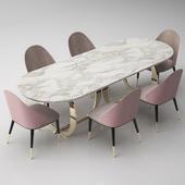 Italian dining room table+chair