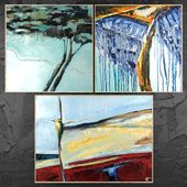 Paintings abstract | set 431