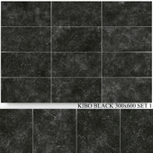 Yurtbay Seramik Kibo Black 300x600 Set 1