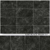 Yurtbay Seramik Kibo Black 300x600 Set 2
