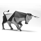 Bull low poly