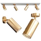 Brass swivel spotlight