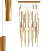 Pendant Lamp Living Vegas Deluxe Brass LED
