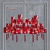 Люстра AXO Light Spillray SP lamps 30 red glass