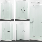 Set of shower cabins Radaway + Grohe