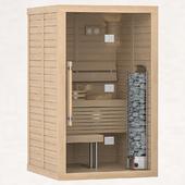 Finnish sauna Sawo Glass Front