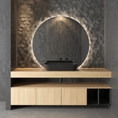 Cerasa NEROLAB | Wood veneer vanity unit
