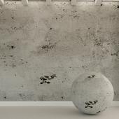 Бетонная стена. Старый бетон. 89
